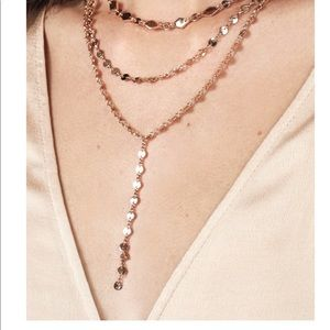 Baublebar Aimee layered y chain necklace gold